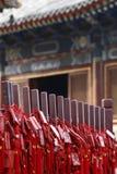 北京生活长的寺庙 免版税库存照片