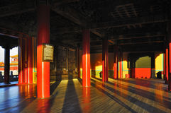 北京禁止的市黄昏 库存图片