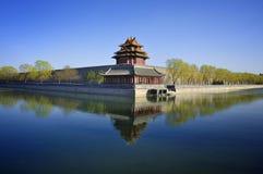 北京紫禁城门塔 免版税图库摄影