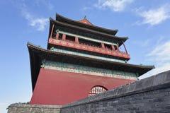 北京蓝色鼓天空塔 免版税库存图片
