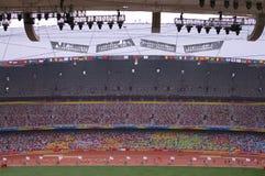 北京野外比赛研了paralympic跟踪 免版税库存照片