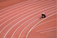 北京野外比赛研了paralympic跟踪 库存照片