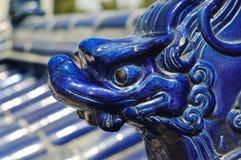 北京陶瓷龙形象天堂寺庙 免版税图库摄影