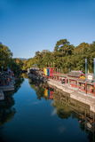北京颐和园北宫门苏州街 免版税库存照片