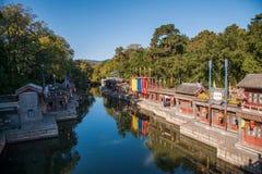北京颐和园北宫门苏州街 免版税库存图片