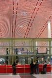 北京首都国际机场信息柜台 库存图片
