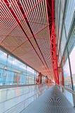 北京首都国际机场内部 图库摄影