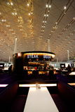 北京首都国际机场牛排和啤酒 免版税图库摄影