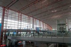 北京首都国际机场离开终端在中国 免版税图库摄影