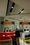 北京首都国际机场immigation柜台 库存图片