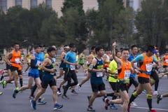 2016年北京马拉松 库存照片