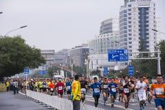 2016年北京马拉松 免版税库存照片