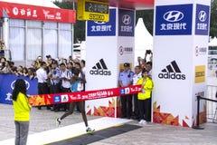 2016年北京马拉松 图库摄影
