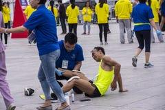 2016年北京马拉松 库存图片