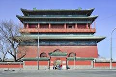 北京,中国著名鼓塔  库存图片