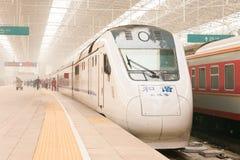北京,中国- 2015年10月17日:中国铁路NDJ3在北京亦不 免版税库存图片