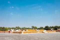 北京,中国- 2015年10月18日:寺庙地球(Ditan) 一著名 库存照片
