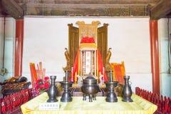 北京,中国- 2015年10月18日:寺庙地球(Ditan) 一著名 库存图片