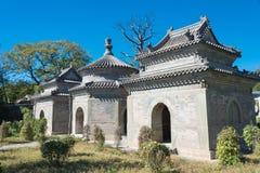 北京,中国- 2015年10月12日:Tianyi坟茔(太监坟茔) 一著名 库存图片