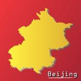 北京-中国地图例证的首都 库存例证