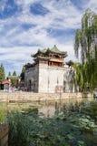 北京 夏天故宫 与塔的塔 免版税库存照片