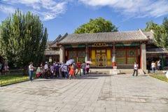 北京 夏天故宫 玉的霍尔起波纹(Yulantang) 库存图片