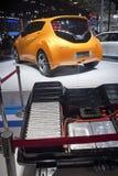 2014年北京autoshow dongfeng电日产的摊 免版税库存照片