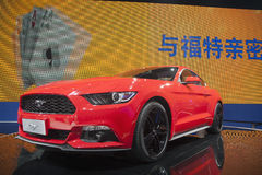 2014年北京autoshow Ford Mustang 库存图片