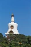 北京Beihai公园白色塔 免版税库存图片