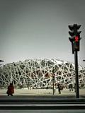 北京Bird& x27; s巢国民体育场 免版税库存照片
