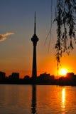 北京cctv瓷塔发射机电视 库存图片