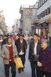 北京Dazhalan市场,著名王府井快餐街道 免版税库存图片