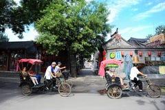 北京pedicab hutong游览 库存照片