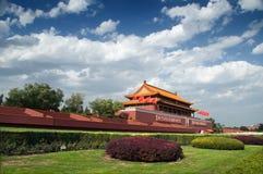 北京tian门的人 免版税库存照片