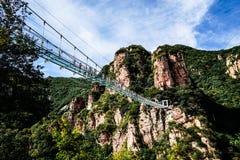 北京tianyun山玻璃走的足迹 库存照片