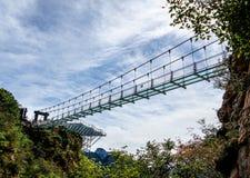 北京tianyun山玻璃走的足迹 库存图片