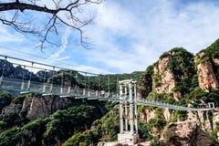 北京tianyun山玻璃走的足迹 免版税库存照片