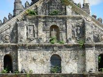 北伊罗戈省鞋帮façade的Paoay教会 免版税库存照片