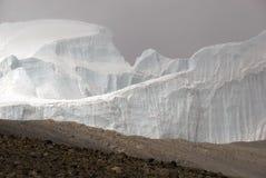 北冰原冰的kilimanjaro 库存图片