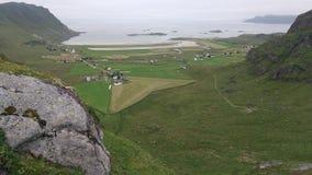 北冰洋海岸风景 免版税库存图片