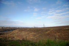 北冰的寒带草原 Vorkuta 图库摄影