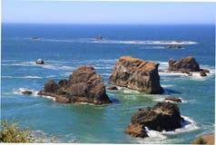 北加利福尼亚海岸线 免版税库存图片