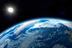 北北极区的地球 免版税图库摄影