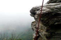 北卡罗来纳攀岩墙壁 免版税库存照片
