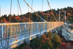 北卡罗来纳英里高平旋桥祖父山 免版税图库摄影