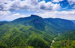 北卡罗来纳视图Wisemans俯视Linville峡谷 库存照片