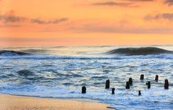 北卡罗来纳Hatteras海洋日出 库存照片