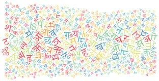 北印度的字母表纹理背景 免版税库存图片