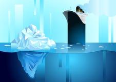 北和南极生活风景  冰山在海洋 库存照片