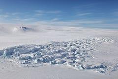 北地群岛(北土地)鸟瞰图 免版税库存照片